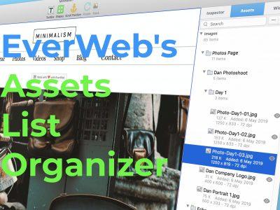 EverWeb's Assets List Organizer
