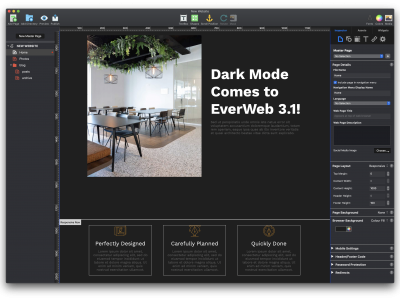EverWeb 3.1 Includes Dark More!