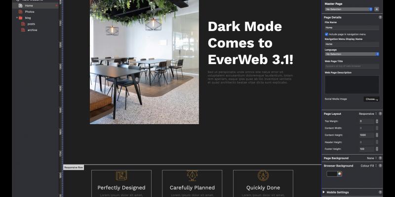 EverWeb 3.1 Includes Dark More!