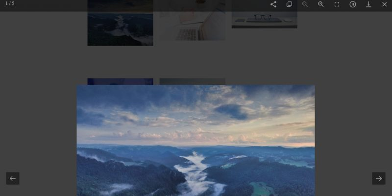 EverWeb's Image Gallery Widget Lightbox
