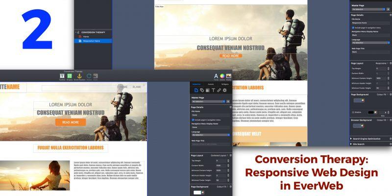 Conversion Therapy 2: Responsive Web Design in EverWeb